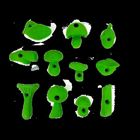 prise escalade enfant osmose lot forest vert clair