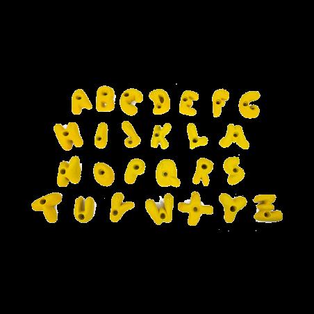 prise escalade enfant osmose lot alphabet jaune 1