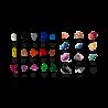 prise escalade enfant osmose lot alphabet couleurs